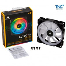 Quạt Tản Nhiệt Case Corsair LL120 RGB 120mm Dual Light Loop RGB LED PWM Fan — Single Pack