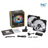 Quạt Tản Nhiệt LL140 RGB 140mm-2 Fan Pack with Lighting Node PRO