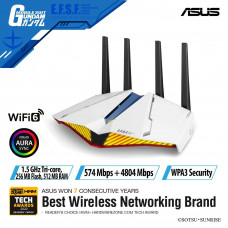 Router Wifi Gaming ASUS RT-AX82U GUNDAM EDITION - AX5400 Dual Band WiFi 6 Gaming Router