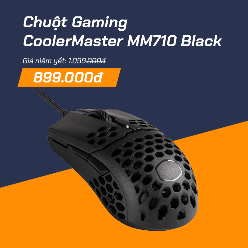 Chuột CoolerMaster MM710 Black