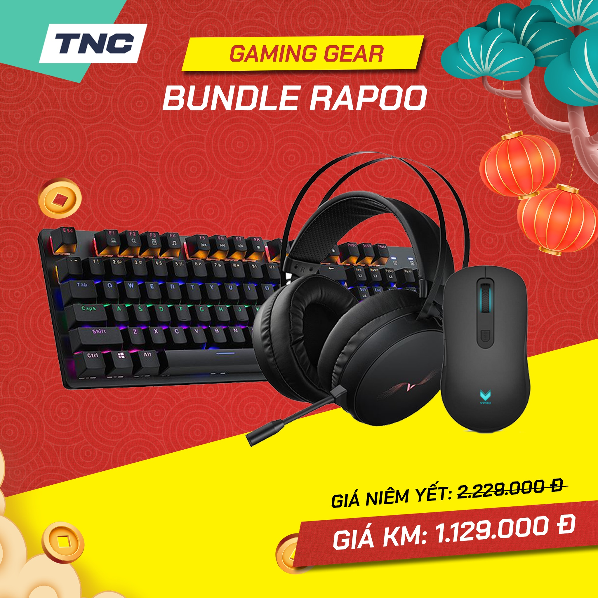 Bundle Gaming Gear Rapoo