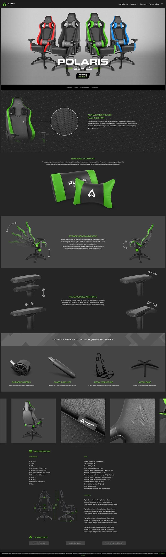 Ghế Gamer Alpha Gamer AG POLARIS-Black/Green